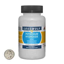 Potassium Hydroxide 8 Ounce Bottle 99 Pure Food Grade Fine Flakes Usa