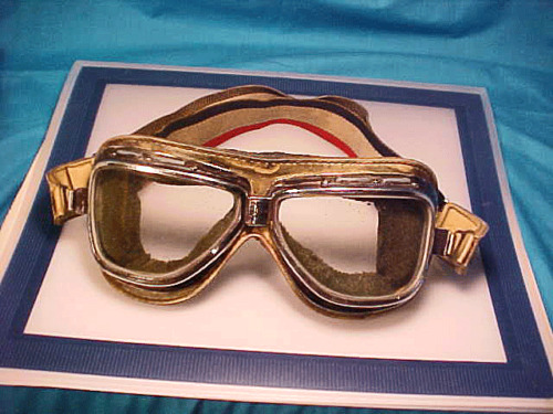 Vintage CLIMAX MOTORCYCLE GOGGLES HOLLYWOOD STUNT