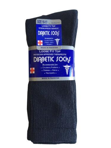 6 or 12 Pairs Diabetic CREW circulatory Socks Health Men's Cotton All Sizes 3