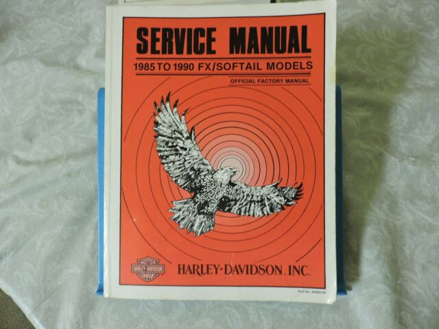 Harley Davidson Official Factory Service Manual 1985