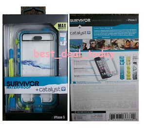 OEM-Griffin-Survivor-Waterproof-Catalyst-Case-for-Apple-iPhone-5-5s-Turquoise
