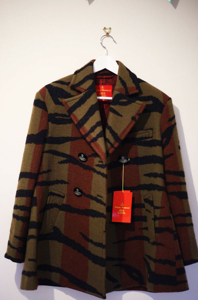VIVIENNE WESTWOOD RED LABEL FW15 TIGER STRIPE PRINCESS COAT size38 BNWT
