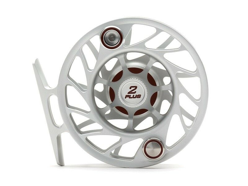 Hatch Gen 2 Finatic 2 Plus Fly Reel, Clear/Red, Large Arbor - New