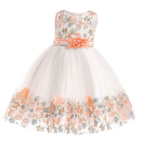 Princess bridesmaid party dress flower tutu dresses kid girl formal wedding baby