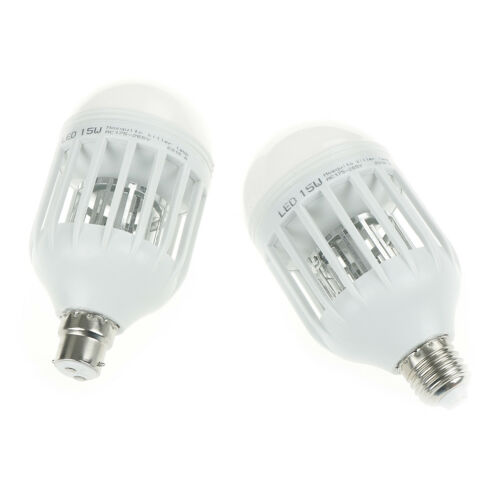 Led Bulb E27//B22 15W Anti-Mosquito Insect Zapper Flying Moth Killer Light LampWQ