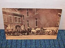 Vintage OIL CITY Fire Department Pennsylvania Pa Postcard Horse & Wagon c. 1909