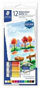 STAEDTLER Confezione di 12 Acquerelli Pigmentati in Tubetto da 12 ml Art. 8880