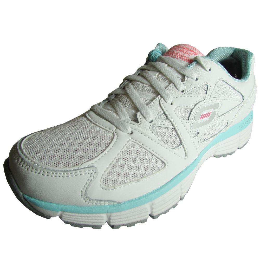 Womens Skechers 11870 Agility 'Free Time' Fashion Sneaker shoes White Light bluee