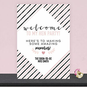 Image Is Loading Personalised Welcome To My Hen Party Sign Poster
