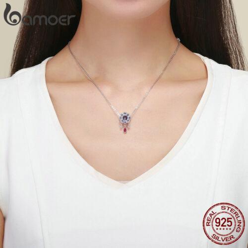 Bamoer 925 Sterling Silver Charm entrelacés Fleur /& zircon cubique pour bricolage bracelet Jewlery