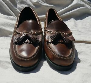 dc30193b6 Image is loading Tommy-Hilfiger-Tassel-Loafers-Brown-Leather-Mens-Slip-