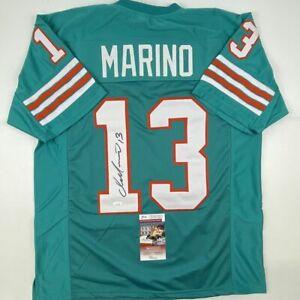 Autographed/Signed DAN MARINO Miami Teal Football Jersey JSA COA Auto