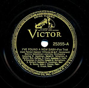 BENNY GOODMAN Orchestra on 1937 Victor 25355 - I've Found a New Baby