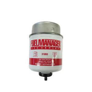 Fuel Manager 31863 Replacement Diesel Water Separator Filter Element 30 Micron