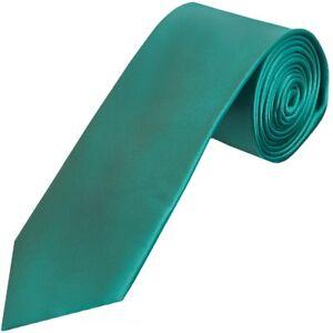 2019 Neuer Stil Plain Teal Satin Classic Men's Tie Neck Tie Wedding Tie Normal Regular Tie Wir Nehmen Kunden Als Unsere GöTter