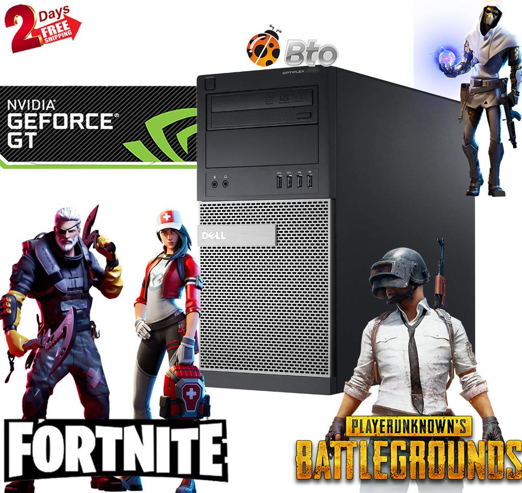 Gaming Dell Desktop computer Towr PC i7-4th 16GB 500GB Nvidia GT 1030 WiFi Win10