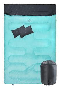 TETON Sports Cascade Double Sleeping Bag;  Queen Size Sleeping Bag for Camping  credit guarantee