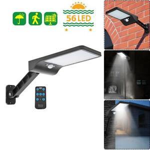 56LED-Solaire-Mouvement-Capteur-Lampe-Murale-Exterieur-Securite-Rue-Telecommande