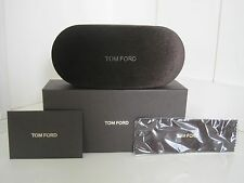 Tom Ford Brown Velvet Sunglass Eyeglass Case Kit Elegant Designer Travel Gift
