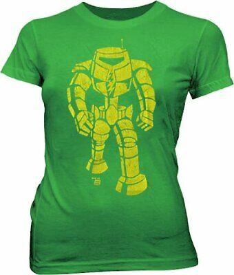 Juniors Charcoal Ames Bros Blue Man-Bot Robot Vintage Graphic Cotton T-shirt Tee