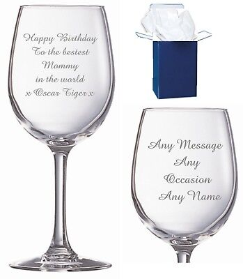Personalised Unicorn Wine Glass Birthday Gift Idea for Women 18th 21st 30th 40th