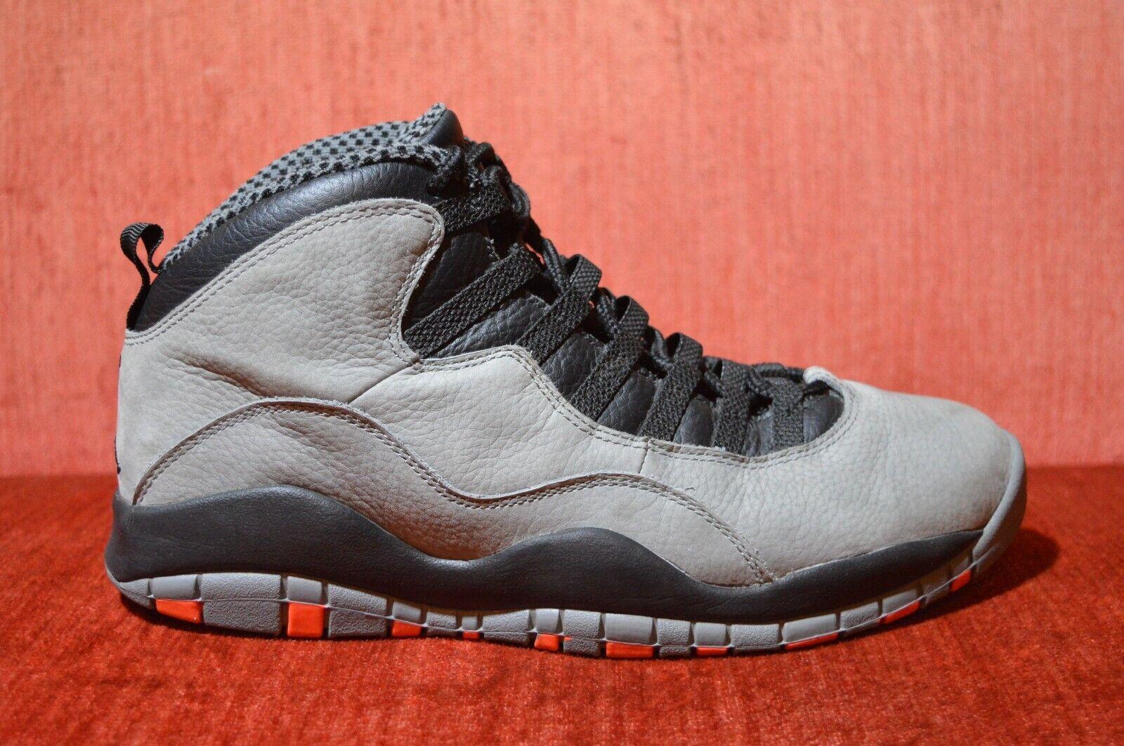 CLEAN Nike Air Jordan Retro 10 X Infrared Cool Grey Size 9.5