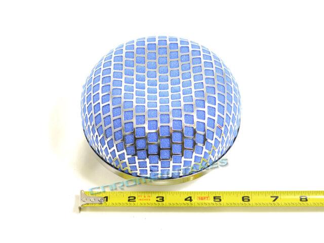 "BLUE UNIVERSAL 3"" MUSHROOM SHAPE AIR FILTER FOR GMC SHORT/COLD AIR INTAKE KIT"