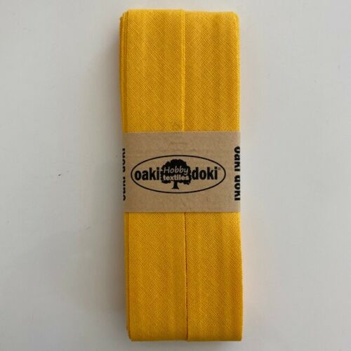 5 metros planos inclinados Band 100/% algodón-Oaki Doki ® cintas dobla-made en la UE