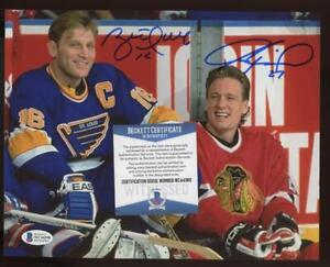 Brett Hull Jeremy Roenick 8 X 10 Auto Autograph BGS/BAS Certified Authentic