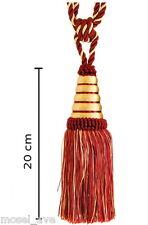 Raffhalter Quaste 20 cm mit Kordel 60 cm Gardinenhalter Gold Rot Jugendstil Chic