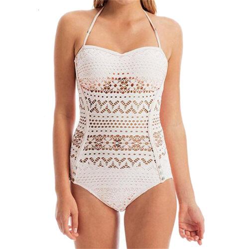 2018 Damen Monokini Bademode Badeanzug gepolsterte Bikini Set Badebekleidung PD