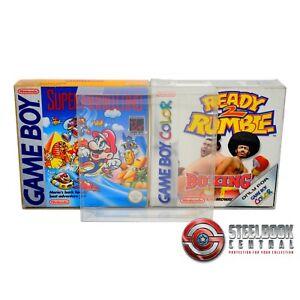 5 x GP7 Game Boy Game Box Protectors for Nintendo 0.4mm PET Display Case
