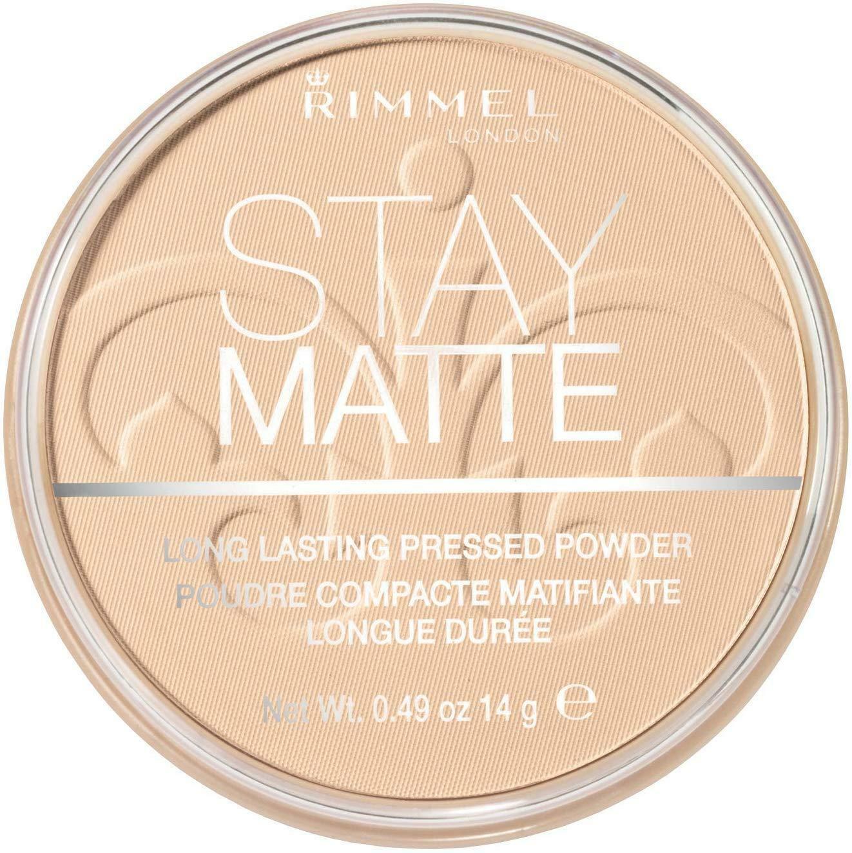 Rimmel London Stay Matte Pressed Powder, Shine Control Formula Transparent, 14 g