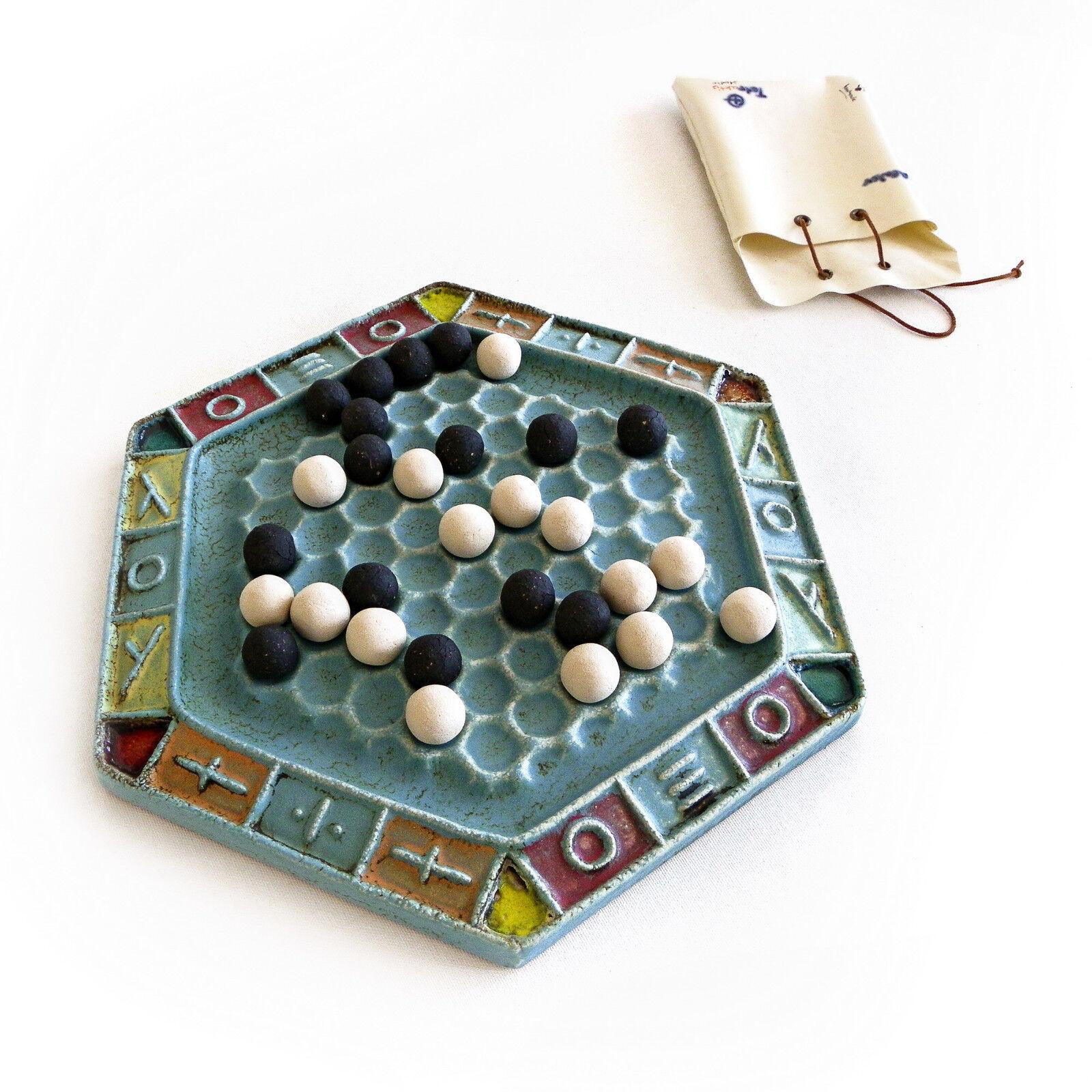 Abalone décoratif Board Game-Handmade Ceramic Replica Set