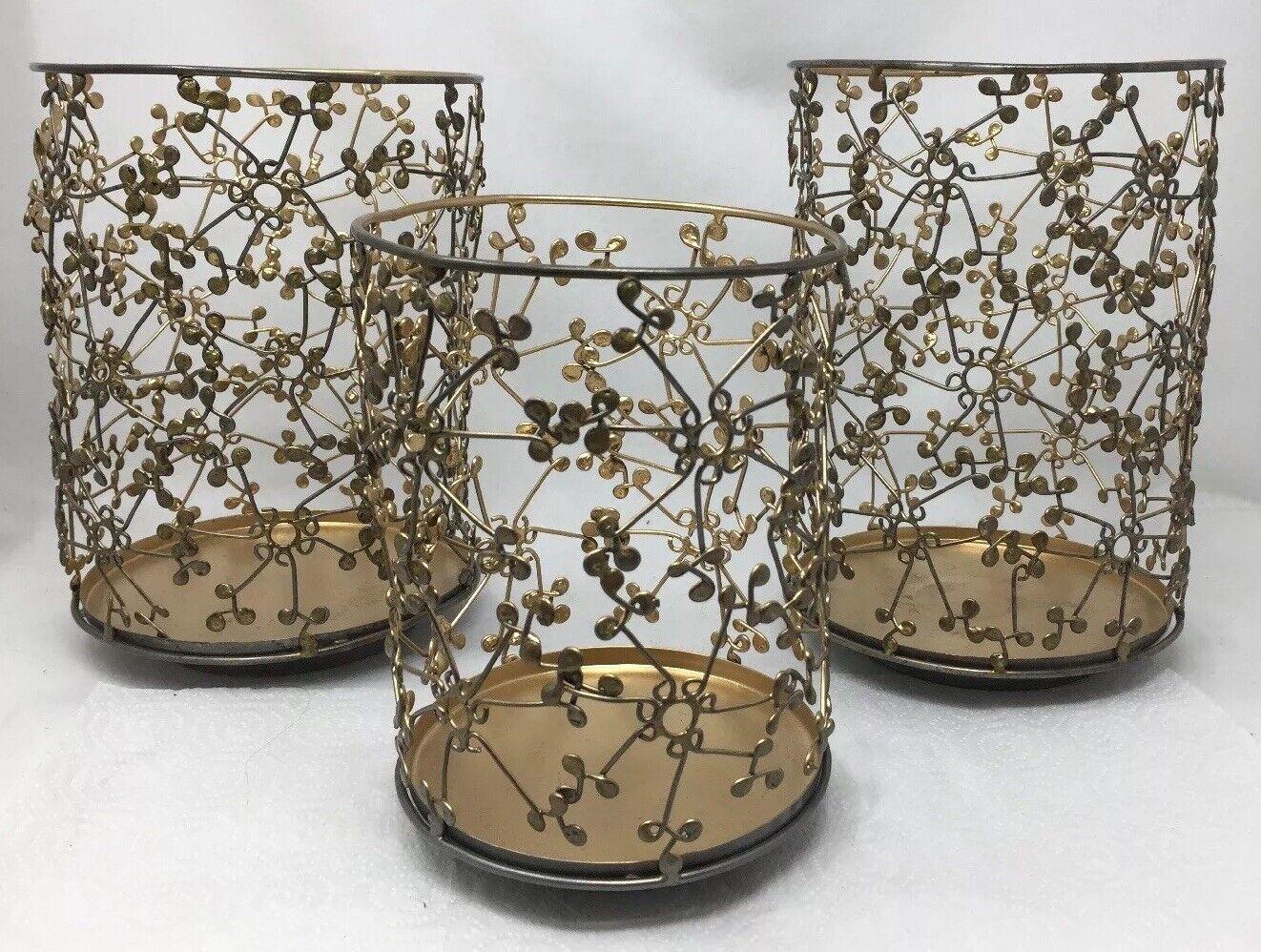 Bad & Körper Arbeiten Elemente Gold Punkte Draht Metall Lichtkörper Kerzenhalter