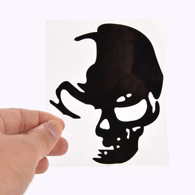 AU_Cool Skull Car Reflective Stickers Car Styling Car Decoration Decal Black A