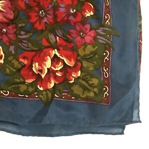 ECHO-Scarf-32-034-Square-FLORAL-Print-Red-Blue-Estate-3