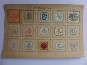 Ex-libris-Monogrammes-Armoiries-colle-sur-carton-dont-TOURING-CLUB-de-F