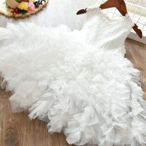 2-7 Years Girls princess party birthday summer tutu Dress
