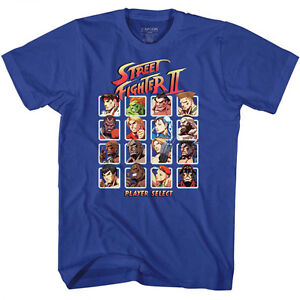 Street-Fighter-2-Capcom-Video-Game-Player-Select-Adult-T-Shirt