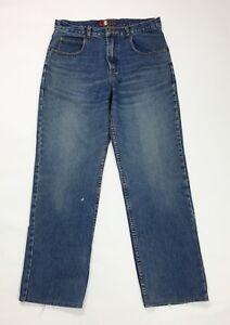 Green-mountain-jeans-uomo-usato-w34-tg-48-denim-straight-fit-gamba-dritta-T3483
