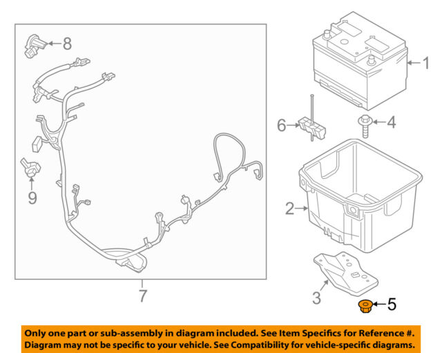 FORD OEM 15-18 Mustang 5.0L-V8-Battery Tray Nut W520771S300