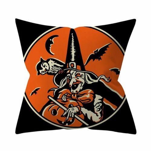 Halloween Pumpkin Ghost Witch Throw Pillow Case Cushion Cover Home Sofa Decors