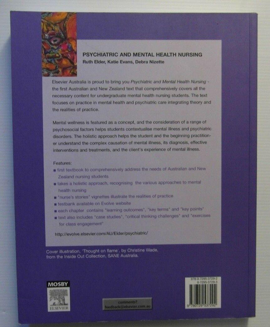 Psychiatric and Mental Health Nursing by Ruth Elder, Debra Nizette, Katie  Evans (Paperback, 2004)