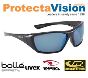 beaef7c09c BRAND NEW Bolle Hustler Polarised Blue Mirror Lens Safety Glasses ...