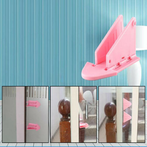 5Pcs Sliding Closet Door Lock Window Wedge Locks Security Safe for Baby Kid