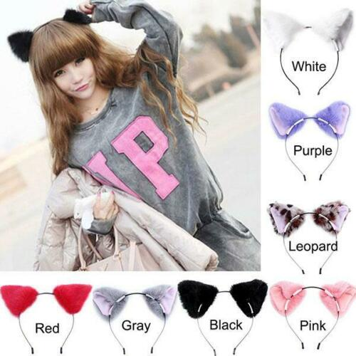 Women/'s Cat Fox Headband Hair Band Cosplay Furry Costume Hair Accessories