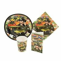 Army Camo Birthday Party Supplies Invitations Cups Napkins Camouflage Choose