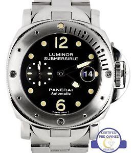 96c739589f1 A imagem está carregando Panerai-Pam-24-44mm-Luminor-Submersivel-Patina-Aco-