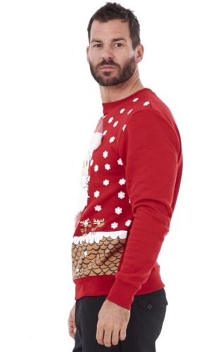 Men/'s Santa Christmas Jumper Xmas Novelty Crew Neck Top Warm Sweater